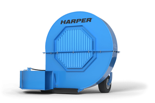 A rendering of a Harper Turf Debris Blower