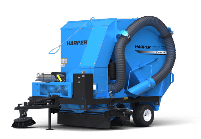 A rendering of a Harper Turf TV40 Turf Vac
