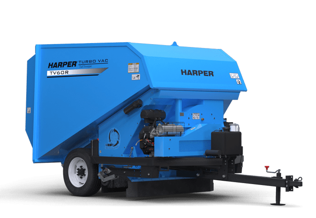 A rendering of a Harper Turf TV60RE Turf Vac