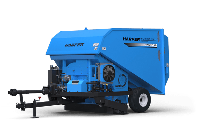 A rendering of a Harper Turf TV60RHD Turf Vac