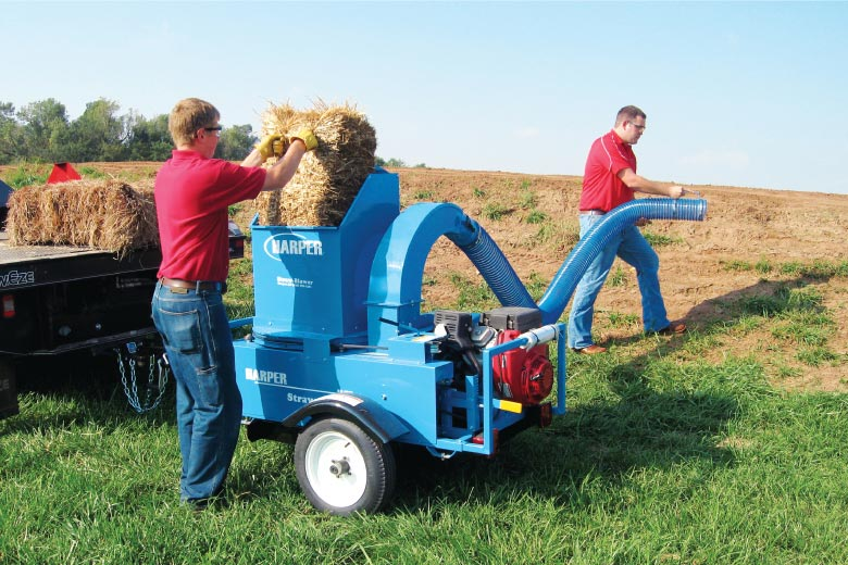 Top Feed Straw Blower